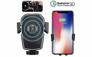 New Wireless Car Charger Mount Pad Phone Holder with 10W Fast Charge