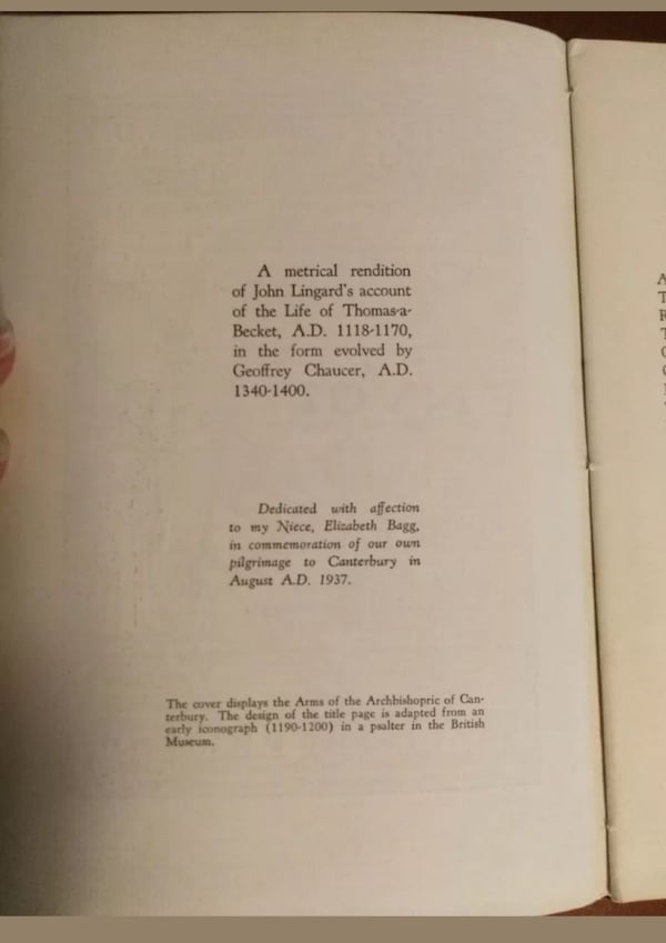 Another Canterbury Tale by Edward P.Bagg, M.D. ~RA 30afb2b5-5e46-41c1-b937-93963197a62d