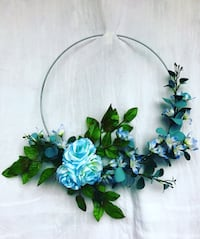 Blue Rose Floral Wreath East Northport, 11731
