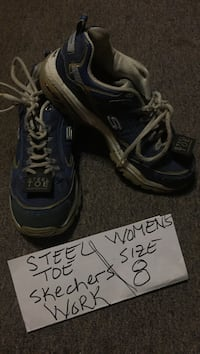 Steel toe Skechers work shoes women's size 8