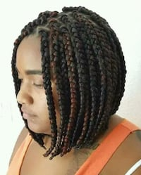 medium size bob  box braids Washington, 20020