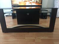 Black wooden single pedestal desk Surrey, V3R 4B5