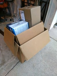 Assortment of dry moving boxes