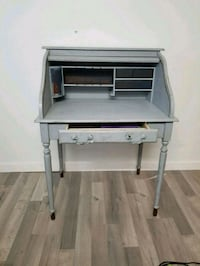 gray wooden single drawer side table Burnaby, V5C 5N1