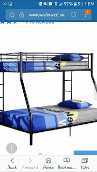 blue metal bunk bed frame Halifax, B3K 2B4