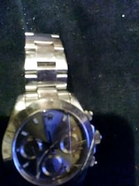 round silver-colored chronograph watch with link bracelet Los Angeles, 90032