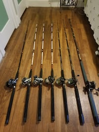 Vintage Saltwater Trolling Rods and Reels (mostly Penn) Portsmouth