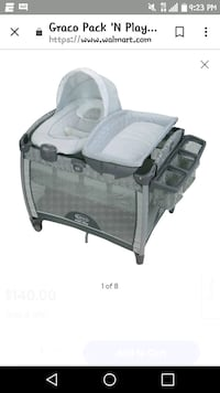 baby's gray and white Graco pack n play Newark, 07104