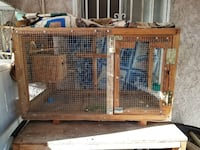 Bird cage with lock and bird house. I can deliver if you are near Los Angeles, 91352