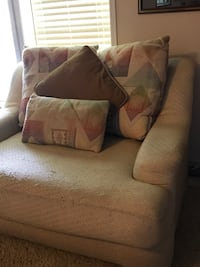 Chair and a half needs either a cover or re upholstered but very comphy  Tabor City, 28463