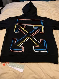 Off white hoodie  oversized style fits L/XL New York, 11365