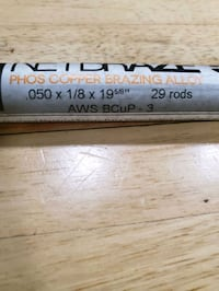 Brazing rods, 29 pcs per tube, $20 /tube Oklahoma City, 73141