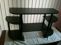 black wooden TV stand with mount Eaton Rapids, 48827