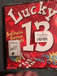 New Lucky 13 Solitaire Games for Kids with deck of cards Columbia, 21045