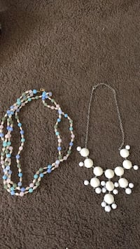 white and blue beaded necklace Chino Valley, 86323