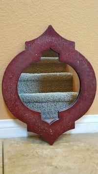 RED RUSTIC MIRROR