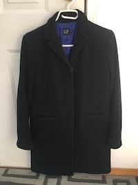 Woman black wool jacket Vancouver, V6B 3G3