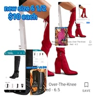 Two new ladies sky high boots sizes 6 and 1/2 only one of each Las Vegas, 89106