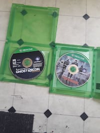 Xbox one two games the division and ghost recon