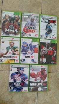 eight Xbox 360 game cases Montréal, H1G 4L1
