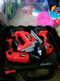 red and black TOY power tools Bowie, 20715