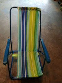 green and blue metal folding chair Manchester, 03102