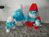 *Vintage* 1980s Smurf Lot (x2 Handpuppets, x1 Jokey, and small Papa Smurf) All for $20 PU Morinville Morinville