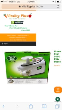 white Green Star twin gear juice extractor box scr Boyds, 20841