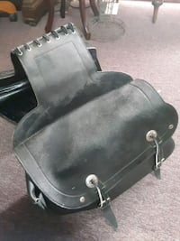 Leather Motorcycle saddlebags / saddle bags