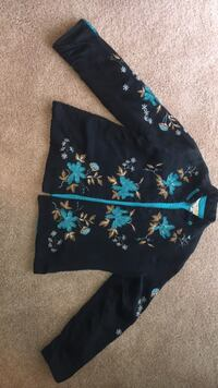 Blue and black floral jacket Patchogue, 11772