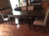 Modern solid dining table w chairs Gatineau, J9J
