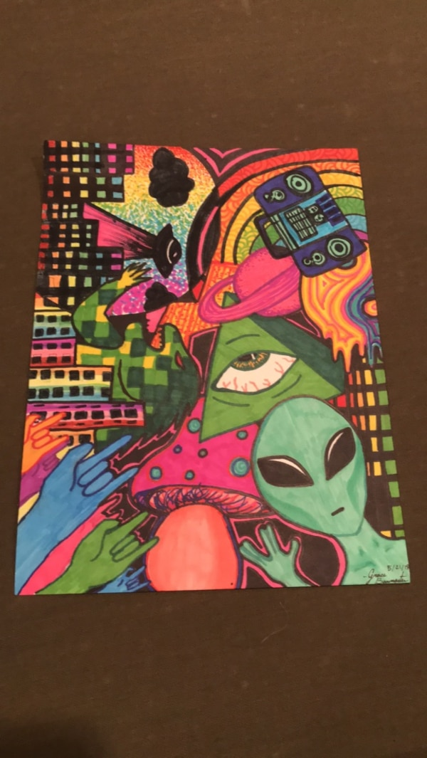Used one of a kind trippy drawing for sale in Chesterfield ...