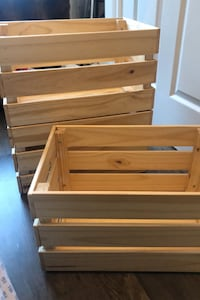 Selling three ikea wooden storage box for cheap