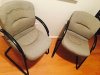 two brown wooden framed gray padded armchairs Orland, 95963
