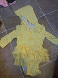yellow and white polka dot nb swimsuit Clinton, 84015