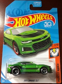 HOT WHEELS EXTREMELY RARE CAMARO ERROR RED WHEEL CARD Brooklyn Park, 55445