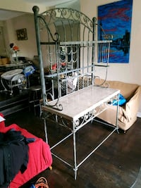 Marble and wrought Iron Buffet and Hutch..240obo Brampton, L6Y 2R2