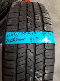 Set of 4 all season tires 265/70/17  Goodyear WITH