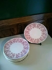 10 Syracuse china dinner plates Mayflower pattern Reading