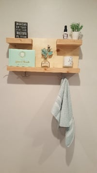 Bathroom Rustic Shelf, Rustic Wood Shelf, Wall Mounted Shelves, Farmhouse decor,  Shelf Organizer, Orange