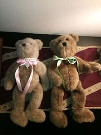 Vintage Boy & Girl Boyd's Bears Jointed Plushies