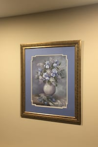 Beautiful blue flowers photo frame picture