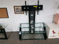 3 tier glass TV stand with mount  Indianapolis, 46203
