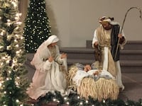 Nativity set up to 3.5' top quality great for a church or business . Brampton