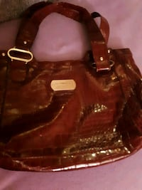 brown leather 2-way bag St. Catharines, L2M 4G1