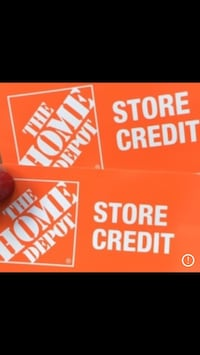STORE CREDIT HOME DEPOT New London
