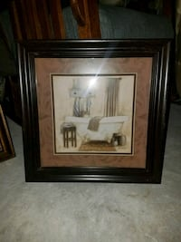 brown wooden framed painting of house Beaumont