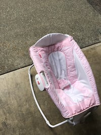 baby's pink and white bouncer Renton, 98056