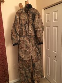 Brown and black real tree camouflage winter jumpsuit  below 0 Silver Spring