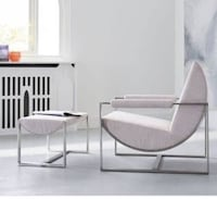 West Elm x Bower Lounge Chair and Ottoman light pink Los Angeles, 90026